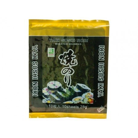 Sushi Nori NORI ALGE, CIJELI LIST (10 listova) 28 g