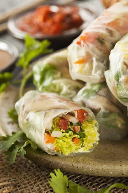 azijske proljetne rolade s povrčem
