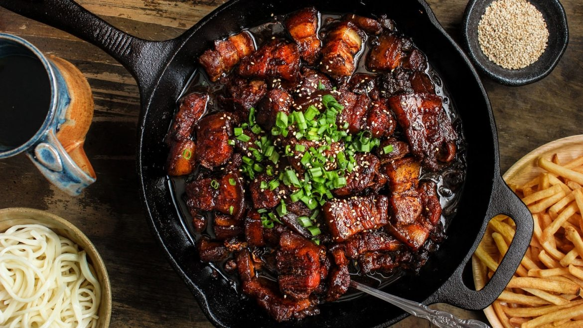 Shanghai sticky pork belly