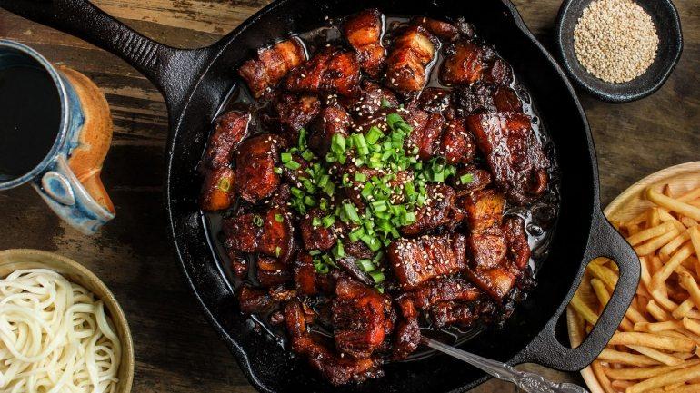 Shanghai sticky pork belly