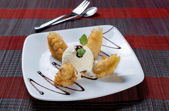 Pečene banane sa sladoledom od vanilije